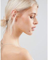 Pieces - Metallic Parisa Stud Earrings - Rose Gold - Lyst