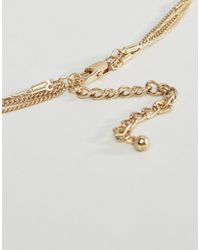 Pieces - Metallic Plina Long Necklace - Gold - Lyst