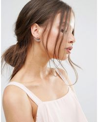 Pieces - Metallic Damal Earrings - Gold - Lyst