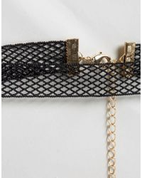 ASOS - Black Halloween Fishnet Choker Necklace - Lyst