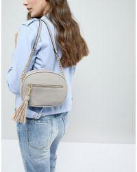 Carvela Kurt Geiger Gray Sophia Tassel Across Body Bag