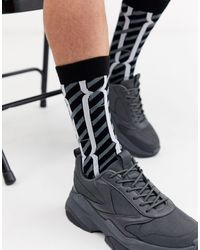 ASOS Black Sock With Monogram Design for men