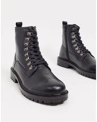 Кожаные Ботинки На Массивной Подошве -черный Bolongaro Trevor для него, цвет: Black