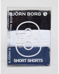 Björn Borg | 3 Pack Trunks - Blue for Men | Lyst