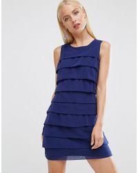Lyst - Madam Rage Ruffle Dress in Blue cac285dff