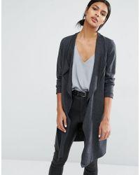 Y.A.S Multicolor Evita Long Wool Cardigan