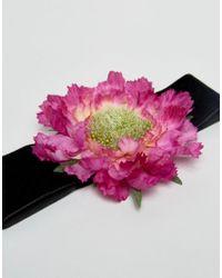 Rock N Rose - Black Rock N Rose Flower Corsage Choker - Lyst