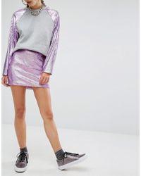 Jaded London - Multicolor Mermaid Sequin Mini Skirt Co-ord - Lyst
