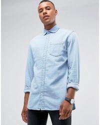 Jack & Jones - Intelligence Relaxed Fit Denim Shirt In Light Blue Wash for Men - Lyst