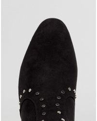Truffle Collection - Black High Ankle Stud Sock Boot - Lyst