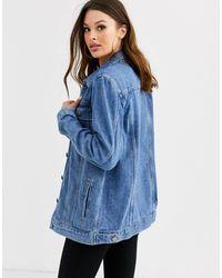 Джинсовая Выбеленная Куртка ASOS, цвет: Blue