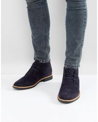 New Look - Blue Faux Suede Desert Boots In Navy for Men - Lyst