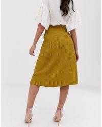Closet - Jupe plissée à poches Closet en coloris Multicolor