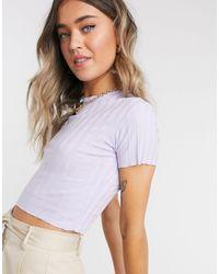Pull&Bear Multicolor Ribbed T Shirt