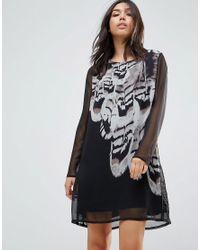 Religion Black Soar Dress