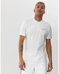 Polo bianca con logo di Nicce London in White da Uomo