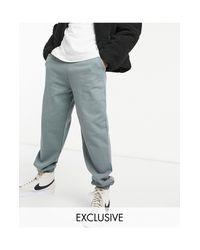 Collusion Gray joggers With Logo Print for men
