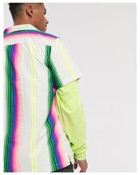 Свободная Рубашка В Разноцветную Полоску ASOS для него, цвет: Multicolor