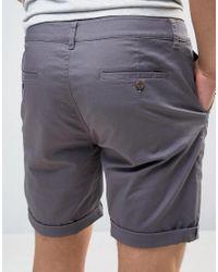 ASOS - Gray Slim Chino Shorts In Soft Purple for Men - Lyst