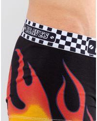 DIESEL - Black Flame Trunks for Men - Lyst