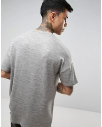 ASOS - Oversized T-shirt In Gray Heavyweight Knitted Jersey for Men - Lyst