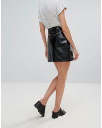 Pepe Jeans Black Studio Pu Mini Skirt