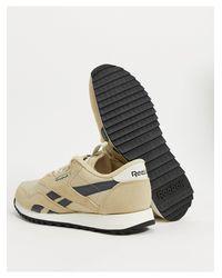 Reebok – Classic – Geriffelte Nylon-Sneaker in Natural für Herren