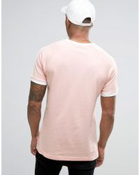 Adidas Originals California T-shirt In Pink Bq5371 for men
