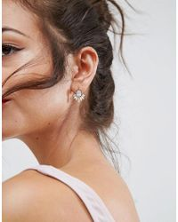 ASOS - Pink Design Delicate Jewel Occasion Earrings - Lyst