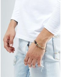 Icon Brand - Metallic Anchor Chain Bracelet In Burnished Gold for Men - Lyst