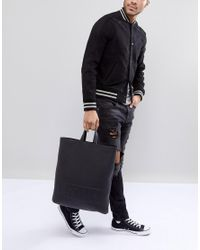HUGO Victorian Logo Leather Tote Backpack In Black for men