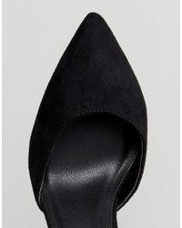 Truffle Collection - Black Wide Fit Block Heel Shoe - Lyst