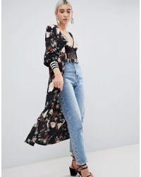 PRETTYLITTLETHING - Multicolor Printed Kimono - Lyst