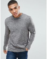 New Look Gray Long Sleeve T-shirt In Grey for men
