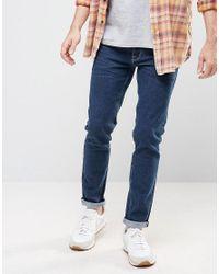 ASOS - Selvage Skinny Jeans In Dark Blue for Men - Lyst
