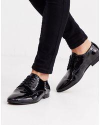 Лакированные Туфли Дерби Bolton-черный H by Hudson для него, цвет: Black