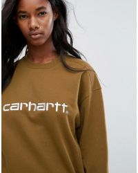 Carhartt WIP Brown Sweatshirt With Script Embroidery