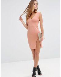 ASOS | Multicolor Bodycon Mini Dress With Thigh Split | Lyst