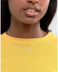 ASOS - Metallic Sterling Silver Triple Balls Necklace - Lyst