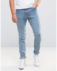 Weekday Friday Skinny Jeans Instant Blue for men