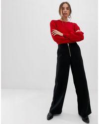 Pantalones SELECTED de color Multicolor