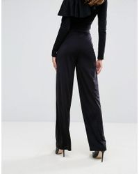 ASOS Black Asos Slinky Wide Leg Trousers
