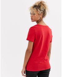 Let Love Grow - T-shirt avec slogan - foncé New Look en coloris Red