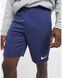Темно-синие Шорты -темно-синий Nike для него, цвет: Blue