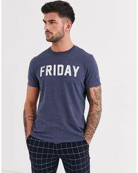 Friday - T-shirt imprimé - foncé chiné J.Crew Mercantile pour homme en coloris Blue