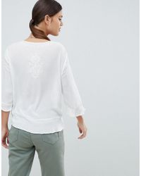 French Connection White Kathryn Crinkle Blouse