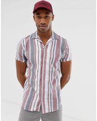 Premium - Chemise manches courtes à rayures Jack & Jones pour homme en coloris Red