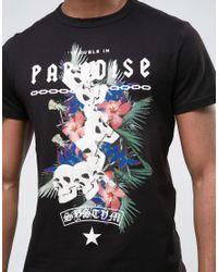 SYSTVM Black Paradise T-shirt for men