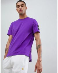 The North Face Purple M S/s Fine 2 Tee for men