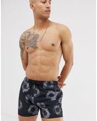 Bonaire - Short de bain à fleurs - Noir HUGO pour homme en coloris Black